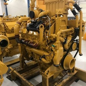 Front and Side View D9R Remanufactured 3408 CAT Engine