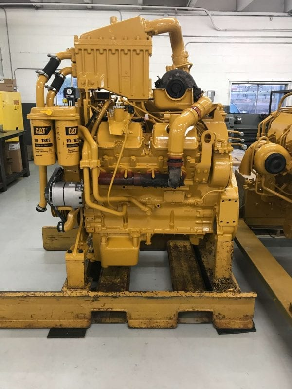 Left Side View of D9R Remanufactured 3408 CAT Engine