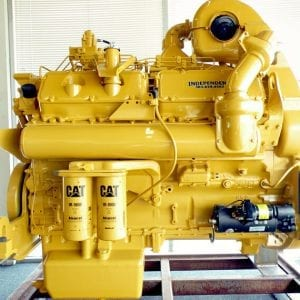 Side View of D10N Remanufactured CAT 3412 Diesel Engine