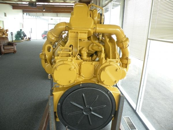 Rear View of D10N Remanufactured CAT 3412 Diesel Engine