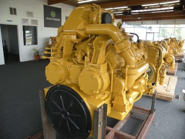 Three Quarter Rear View of D10N Remanufactured CAT 3412 Diesel Engine