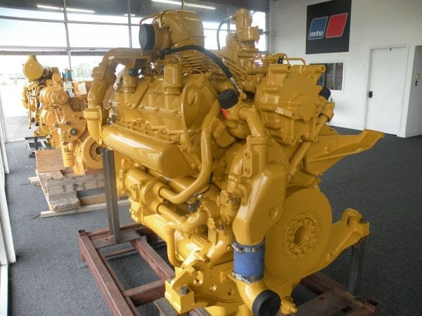 Three Quarter Front View of D10N Remanufactured CAT 3412 Diesel Engine
