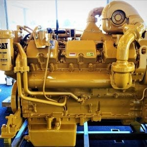 Side View of D10R Remanufactured CAT 3412E Diesel Engine for Sale