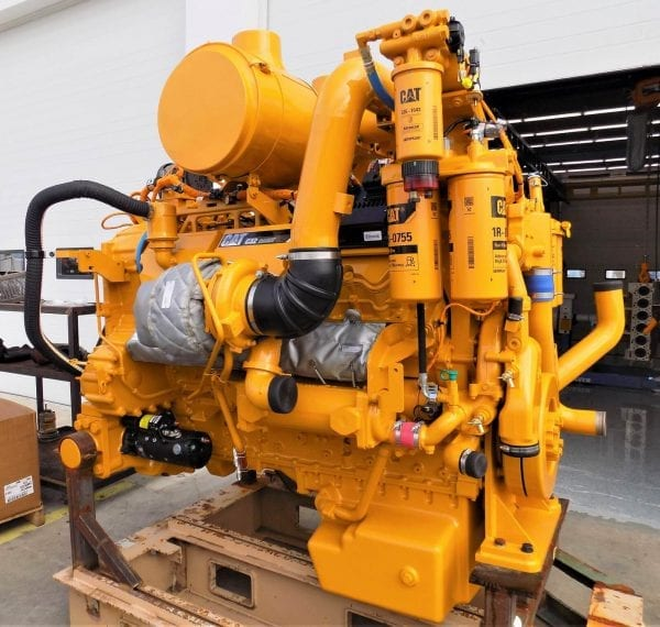 Side Middle View of D11T Remanufactured C32 ACERT CAT Engine