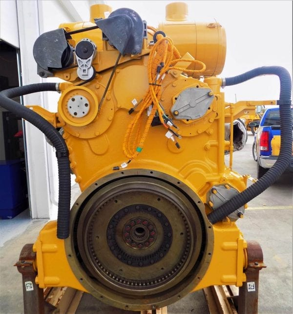 Rear View of D11T Remanufactured C32 ACERT CAT Engine