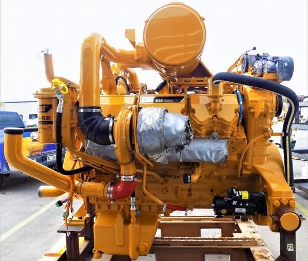 Left Side View of D11T Remanufactured C32 ACERT CAT Engine