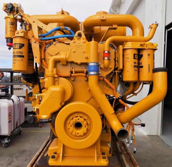 Front View of D11T Remanufactured C32 ACERT CAT Engine
