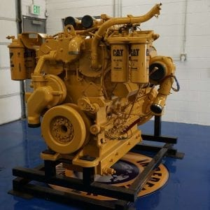 Back View of 992K Remanufactured C32 ACERT CAT Engine