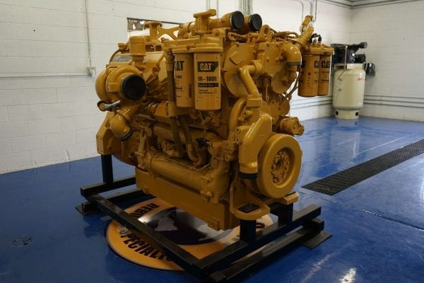 Back and Side View of 992K Remanufactured C32 ACERT CAT Engine