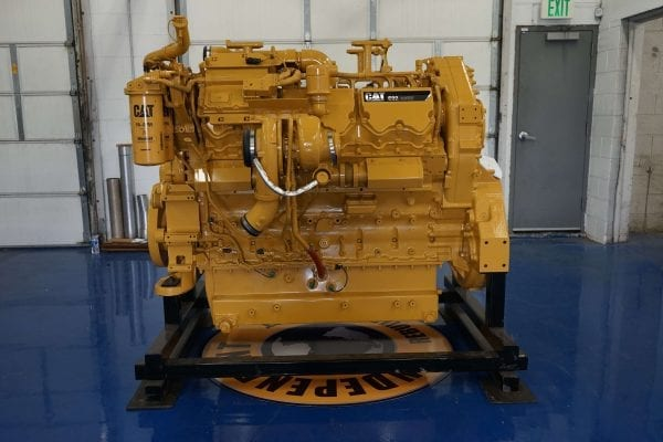 Side View of 992K Remanufactured C32 ACERT CAT Engine