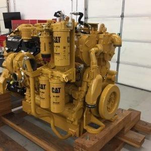 Corner View of 854K Remanufactured C32 ACERT CAT Engine