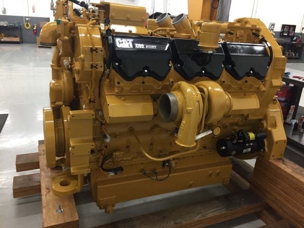 Side View of 854K Remanufactured C32 ACERT CAT Engine