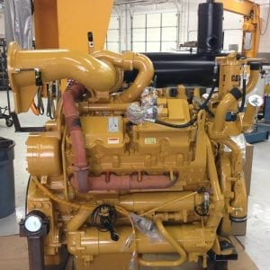 Top and Side View of 988F Remanufactured 3408 CAT Engine