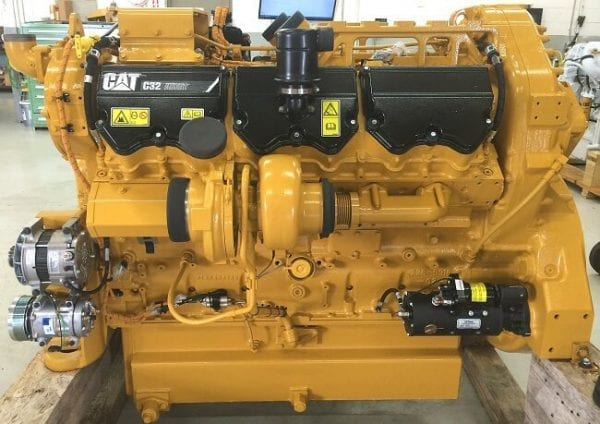 Side and Top View of 777F Remanufactured C32 ACERT CAT Engine
