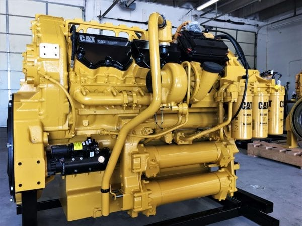 Side and Back of 777F Remanufactured C32 ACERT CAT Engine