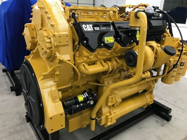 View Front and Side of 777F Remanufactured C32 ACERT CAT Engine