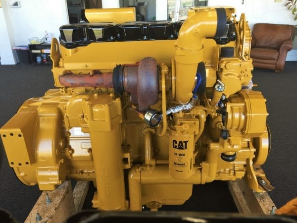 Side and Top View of 834G Remanufactured 3456 CAT Engine
