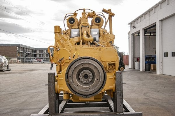 Front View of 777D Remanufactured 3508 CAT Engine