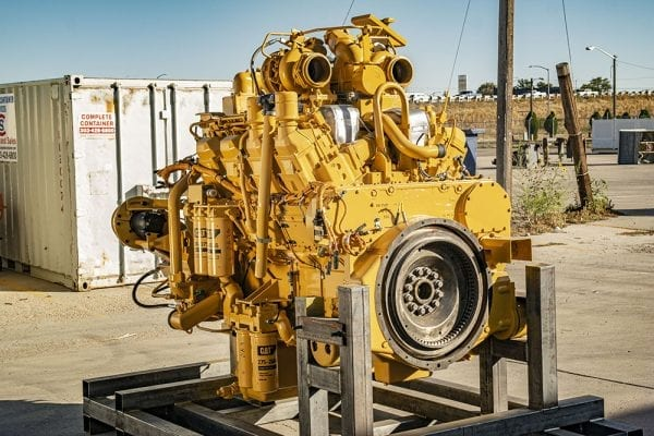 Three Quarter View of 777D Remanufactured 3508 CAT Engine