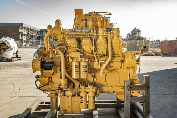 Side View of 777D Remanufactured 3508 CAT Engine