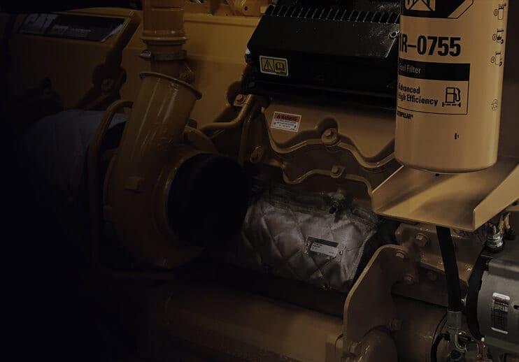 Close-up CAT Engine Remanufactured