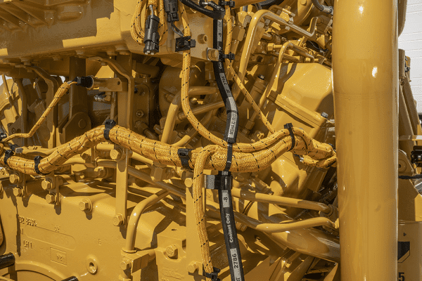 Close-up on Side with Hoses of 793D Remanufactured for CAT 3516 Engine