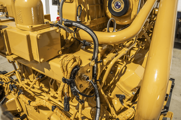 Close-up of Hoses for 793D Remanufactured for CAT 3516 Engine