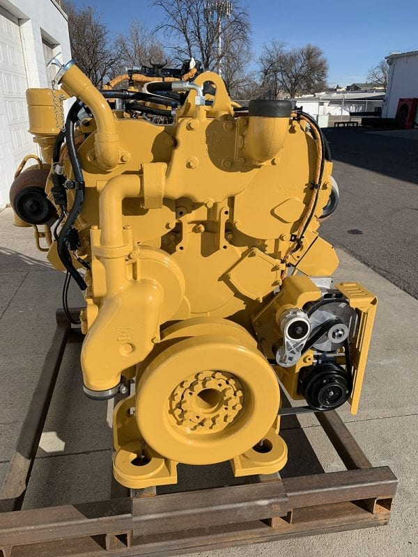 End View of C27 Remanufactured C32 ACERT Industrial Engine