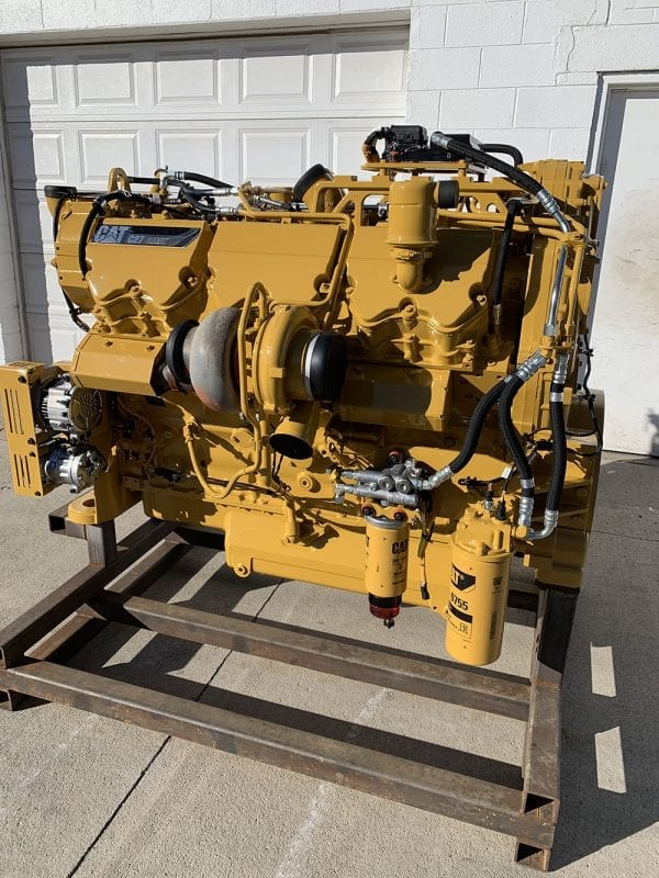 Side and Top View of C27 Remanufactured C32 ACERT Industrial Engine