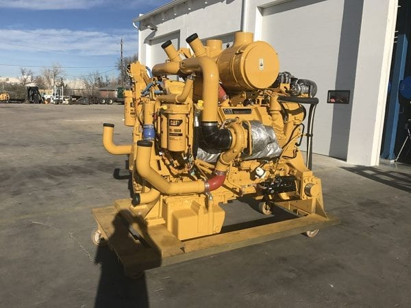 Side View of D11T Remanufactured C32 CAT Engine