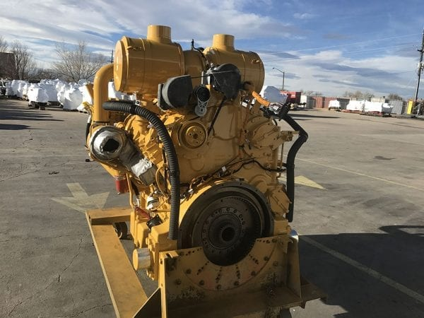 Rear View of D11T Remanufactured C32 CAT Engine