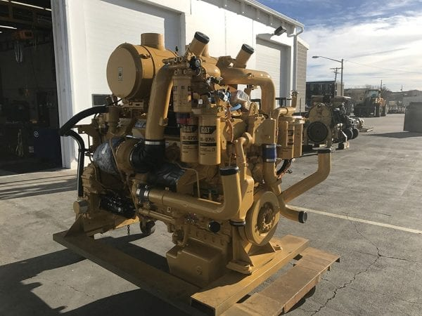 Front and Side View of D11T Remanufactured C32 CAT Engine