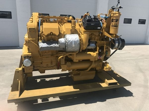 Side View of D10T Remanufactured C27 ACERT Cat Engine