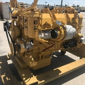 Corner View of D10T Remanufactured C27 ACERT CAT Engine
