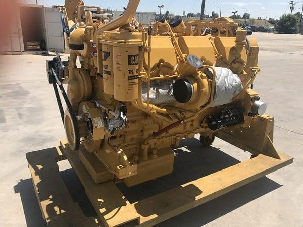 Corner View of D10T Remanufactured C27 ACERT CAT Engine