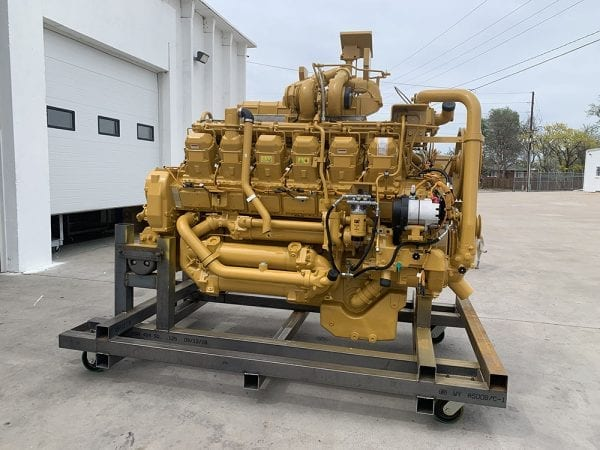 Left Side View of 785C Remanufactured 3512 CAT Engine