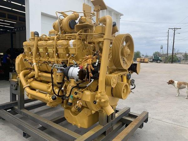 Three Quarter View of 785C Remanufactured 3512 CAT Engine