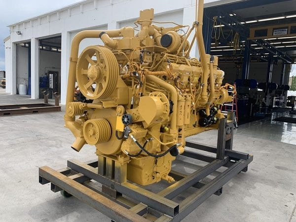 Front Right View of 785C Remanufactured 3512 CAT Engine