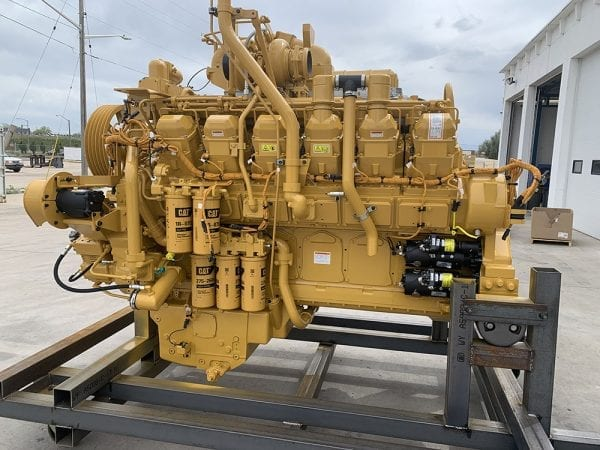 Right Side View of 785C Remanufactured 3512 CAT Engine