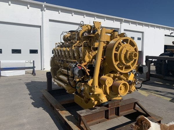 Front View of 789C Remanufactured 3516 CAT Engine