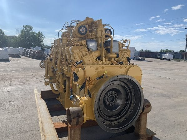 Rear View of 789C Remanufactured 3516 CAT Engine