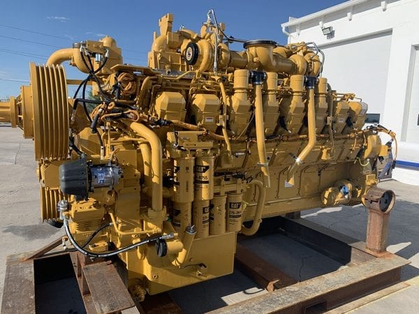Right Side View 789C Remanufactured 3516 CAT Engine
