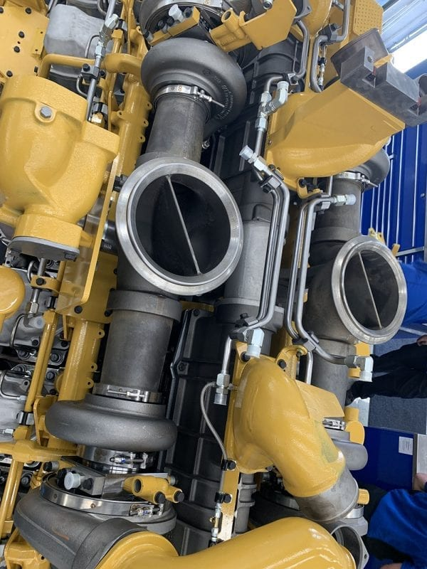 Top View of 793C Remanufactured 3516 CAT Engine