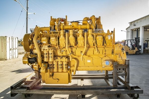 Side View of 739C Remanufactured 3516 CAT Engine