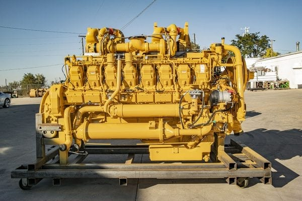 Left Side View of 793C Remanufactured 3516 CAT Engine